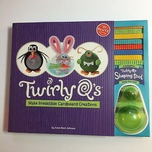 Klutz Twirly Q's Cardboard Collections Book New